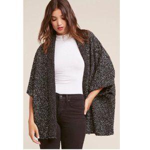 BB DAKOTA Oversized Marled Knit Cardigan in Black